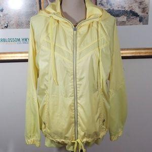 Casual identity Yellow hoodie Jacket, zipper up !